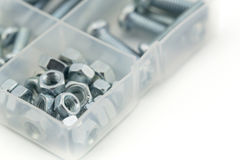 Assorted nuts and bolts Stock Image