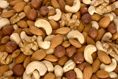 Assorted nuts close up Stock Photo