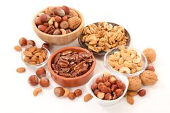 Assorted nuts, dried fruit Stock Photo