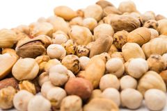 Assorted nuts isolated Royalty Free Stock Photo