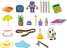 Assorted objects Royalty Free Stock Images