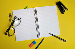 Assorted office supplies Stock Photo