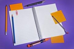 Assorted office supplies Stock Photos