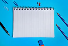 Assorted office supplies Stock Photos