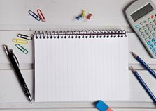 Assorted office supplies Royalty Free Stock Photo