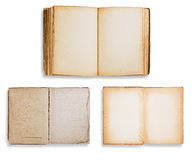 Assorted old books isolated Stock Photography