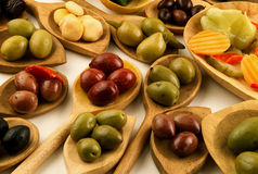 Assorted olives Royalty Free Stock Photos