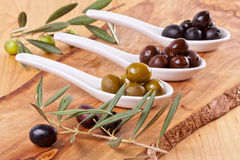 Assorted olives Royalty Free Stock Photo