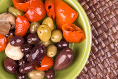 Assorted olives Royalty Free Stock Image