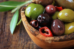 Assorted olives Stock Image