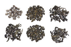 Assorted Oolong Tea Leaves royalty free stock image