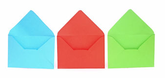 Assorted open envelopes Royalty Free Stock Photography