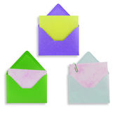 Assorted open envelopes isolated Royalty Free Stock Image
