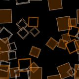 Scattered Squares Orange. Assorted orange squares over a black background in a digitally created seamless tiling image Stock Image