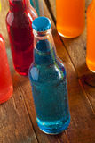 Assorted Organic Blue Craft Sodas Royalty Free Stock Photos