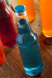 Assorted Organic Blue Craft Sodas Stock Photos