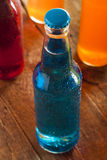 Assorted Organic Blue Craft Sodas Royalty Free Stock Photo
