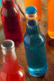 Assorted Organic Blue Craft Sodas Royalty Free Stock Photography