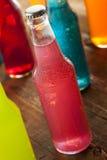 Assorted Organic Craft Peach Soda. With Cane Sugar stock photo