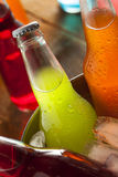 Assorted Organic Craft Sodas Royalty Free Stock Photography