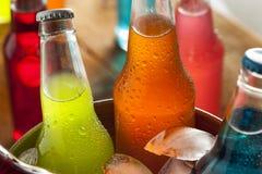 Assorted Organic Craft Sodas stock photos