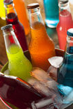 Assorted Organic Craft Sodas Stock Images