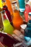 Assorted Organic Craft Sodas Stock Images