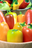 Assorted organic peppers Royalty Free Stock Photo
