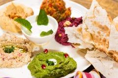 Assorted of oriental food, mezze Stock Image