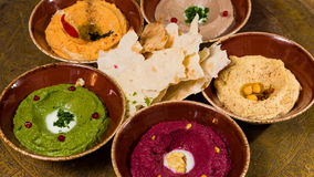 Assorted of oriental food, mezze Stock Photography