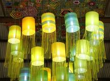 Assorted Oriental silk lamps Stock Image