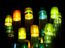 Assorted Oriental silk lamps Stock Photography