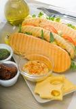 Assorted panini sandwich Royalty Free Stock Image