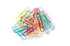 Assorted Paper Clips Royalty Free Stock Photo