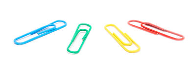 Assorted Paper Clips Royalty Free Stock Photography