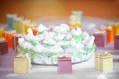 Assorted party favors displayed on a table Stock Photography