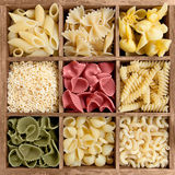 Assorted pasta Royalty Free Stock Images
