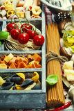 Assorted pastas Stock Photos