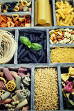 Assorted pastas Royalty Free Stock Photography