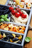 Assorted pastas Stock Images