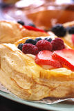 Assorted Pastries. With coffee on table at restaurant Royalty Free Stock Image