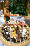 Assorted pastries. On a plate in the hall Royalty Free Stock Image