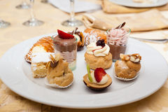 Assorted pastries Royalty Free Stock Photos
