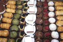 Assorted patisserie plate stock photography