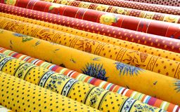 Assorted Patterned Fabric Stock Image