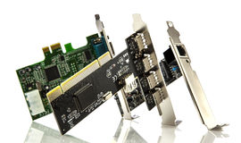 Assorted pci cards Stock Image