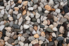 Assorted pebbles background. Full frame of assorted pebbles Stock Images