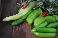 Assorted peppers Stock Photography