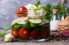 Assorted pickled vegetables Stock Images