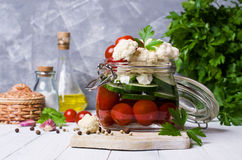 Assorted pickled vegetables Stock Image